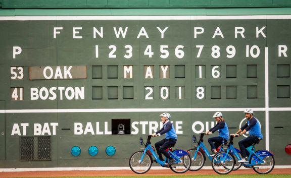 Blue Bikes featured at Fenway
